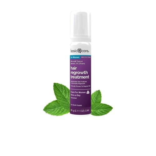 Dung Dịch Mọc Tóc Basic Care Minoxidil 5% Dạng Bọt - Nữ