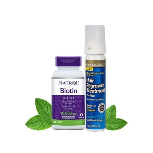 Combo Không Dị Ứng Dạng Bọt GOODSENSE - Biotin