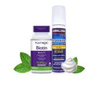 Combo Không Dị Ứng Dạng Bọt KIRKLAND - Biotin