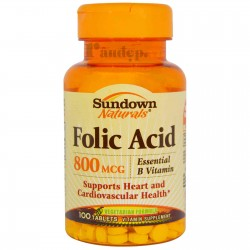 Folic Acid 800mcg Hỗ Trợ Mọc Râu