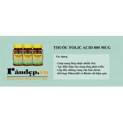 Folic Acid 800mcg Mason Natural