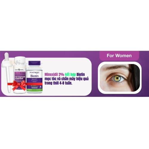 Minoxidil Basic Care 2% For WOMEN - Biotin Combo mọc tóc và chân mày